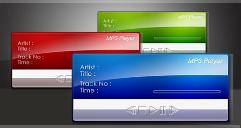 flash audio player skins